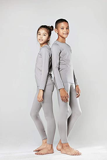 DEVOPS Boys 2-Pack Thermal Underwear Long Johns with Fly