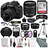 Nikon D3400 with AF-P DX NIKKOR 18-55mm f/3.5-5.6G VR Lens, 32 GB SDHC and Basic Bundle For Sale