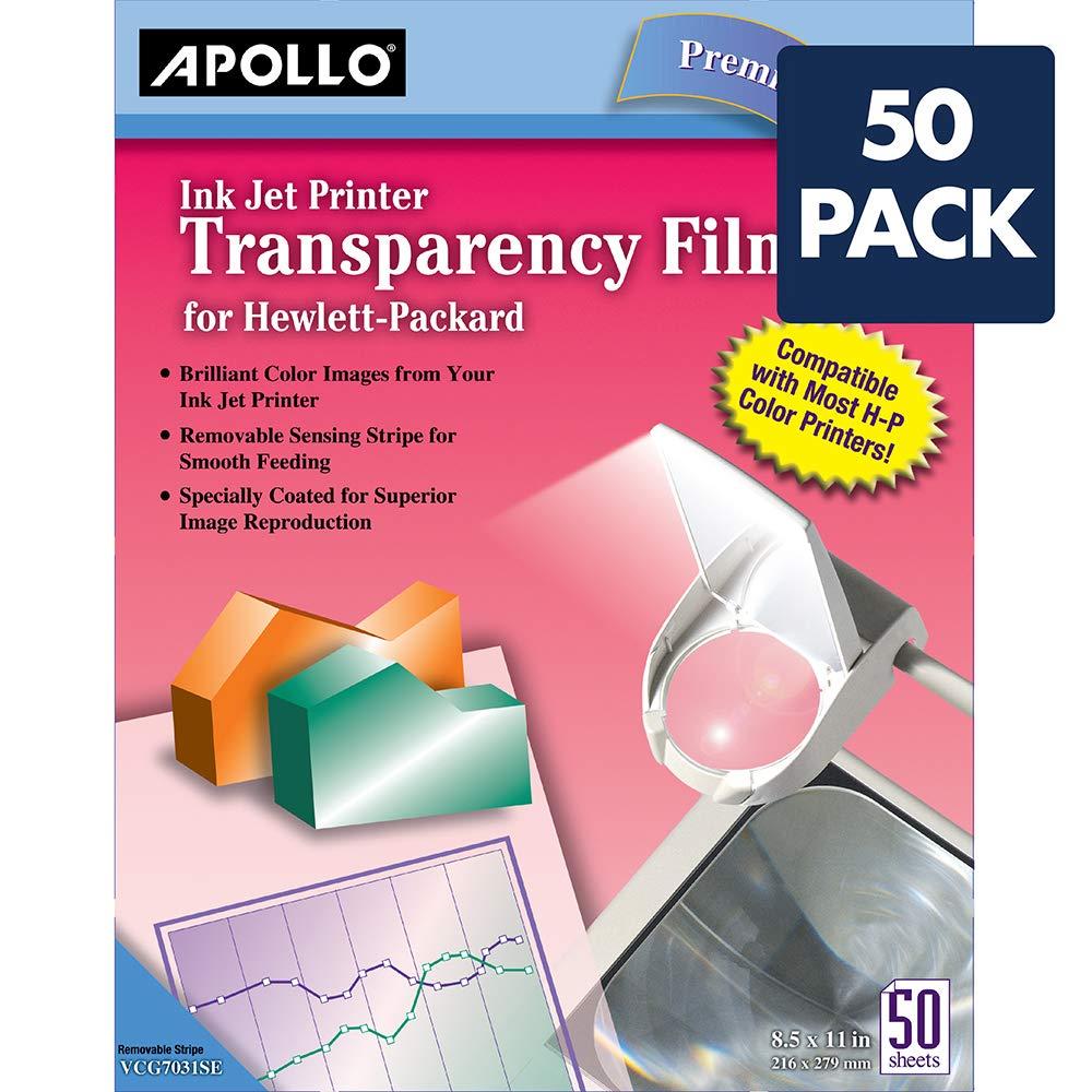 Amazon.com : Apollo Transparency Film for Inkjet Printers, for ...