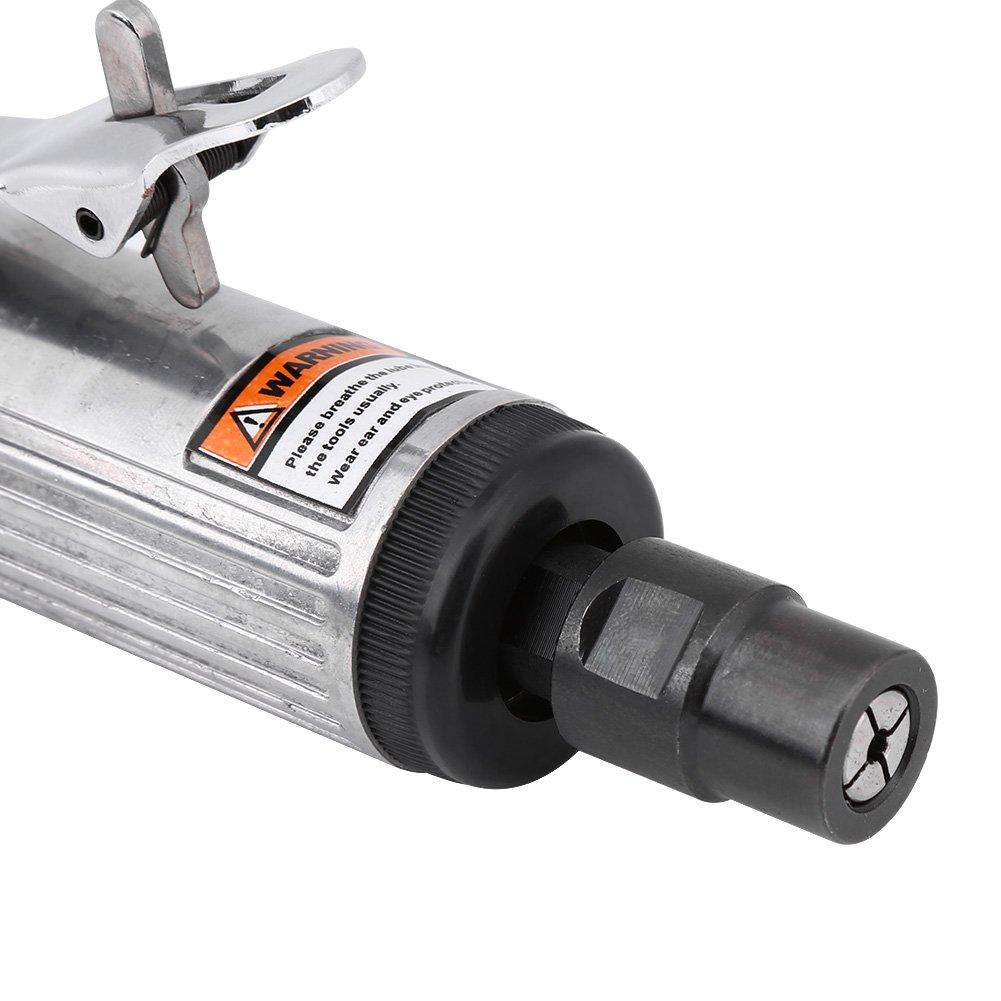 1/4 Inch Pneumatic Air Die Grinder Grinding Kit Polishing Engraving Tool 90PSI by Keenso (Image #6)