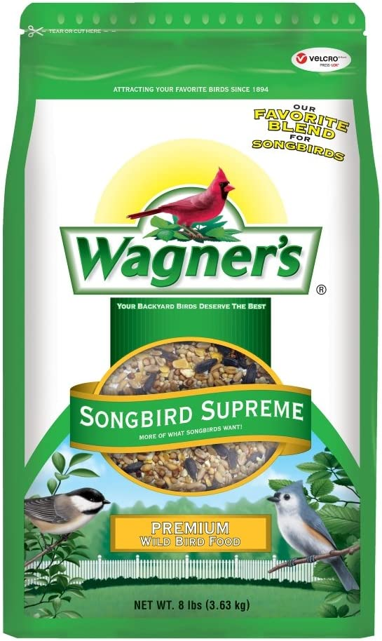 Wagner's 62042 Songbird Supreme Blend Wild Bird Food, 8-Pound Bag
