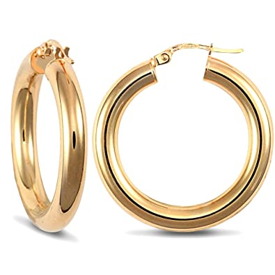 9ct Yellow Gold Polished Oval 3mm Hoop Earrings Forever Mine Fine Jewellery Co