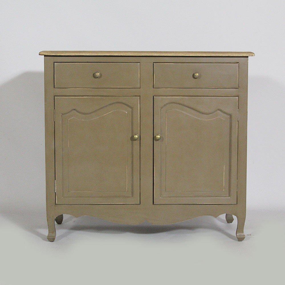 Sideboard mit 2 Türen, Barockstil, Brown/Brown