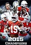 2015 Ohio State National Championship Coach Meyer, Jones, Smith, Elliott, Bosa Autograph Replica Poster - Ohio State Buckeyes