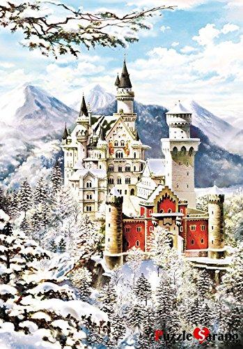 Puzzlelife 1000 piece Jigsaw Puzzles Snow in Neuschwanstein Castle 1362