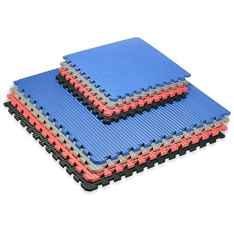 We Sell Mats   Black 16 SQ FT 24u0026quot;x24u0026quot; Extra Thick 4 Tiles