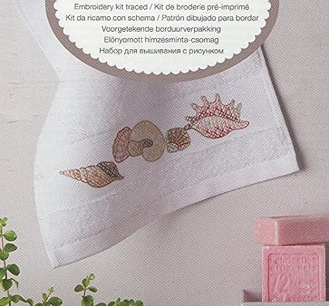 Rico diseño mejillones Kit - Toalla de Invitados, 100% algodón: Amazon.es: Hogar