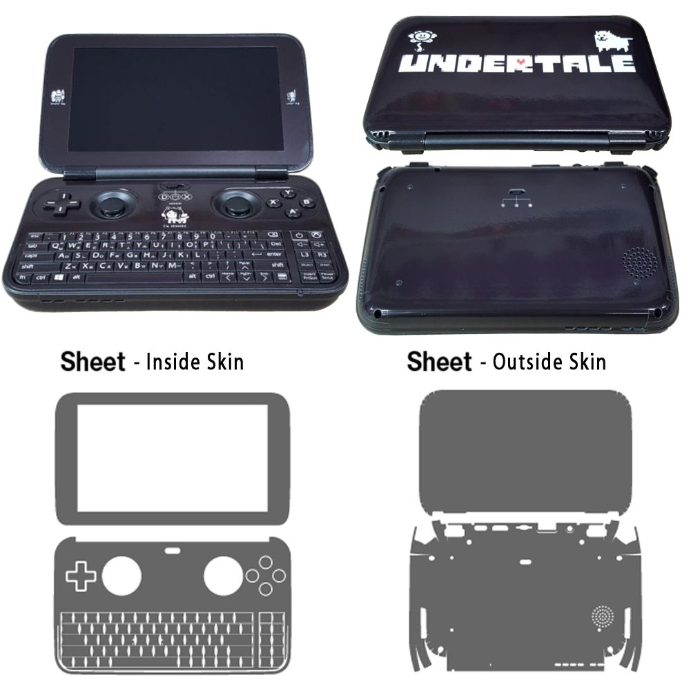 Skin Decal Stickers For GPD Win Console All Side Tuning Mapping POP SKIN Undertale