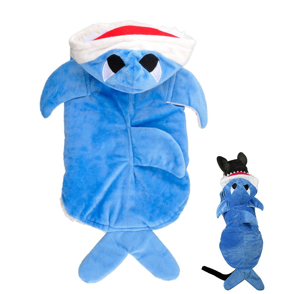 Gimilife Shark Cotton Tidy Costume for Cats Dogs (XL)