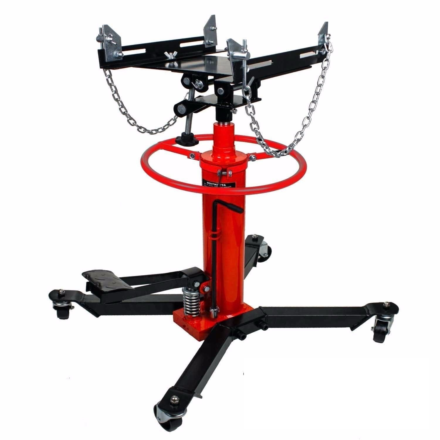 Funwebsurfer - 1660lbs Transmission Jack 2 Stage Hydraulic w/ 360° for car lift auto lift