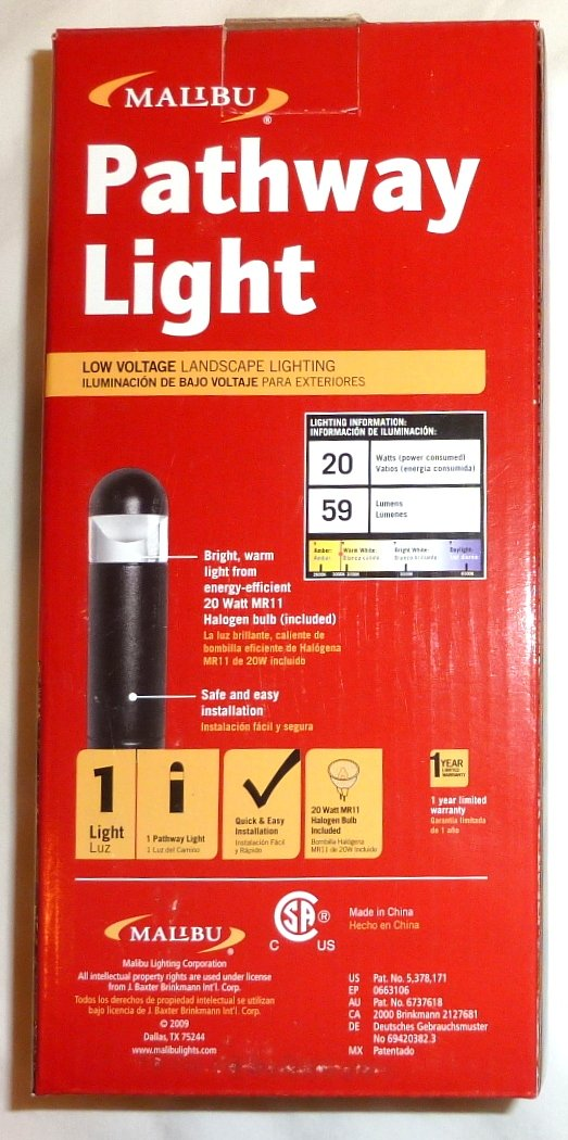 Amazon.com : 12 Pack of Malibu 8301-9300-12 Bollard Lights, 20 watt, Cast Metal, Landscape Pathway Lights, Black BY MALIBU DISTRIBUTION : Garden & Outdoor