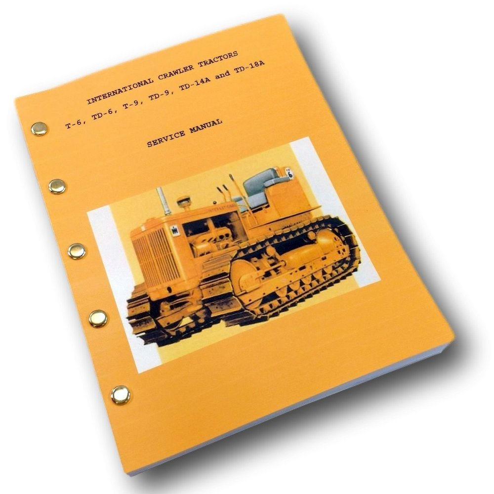 Amazon.com: International Crawler T6 Td6 Tractor Service Repair Shop Manual  Full Td-