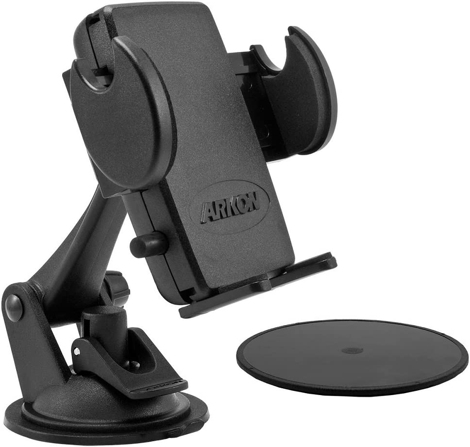 Arkon Windshield or Dash Phone Car Holder Mount for iPhone X 8 7 6S Plus 8 7 6S Galaxy Note Retail Black