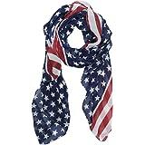 Melody Unisex Fashion Charming Patriot Patriotic US USA American star Flag Pattern Print Shawl Scarf Wrap SCF003 Garden, Lawn, Supply, Maintenance