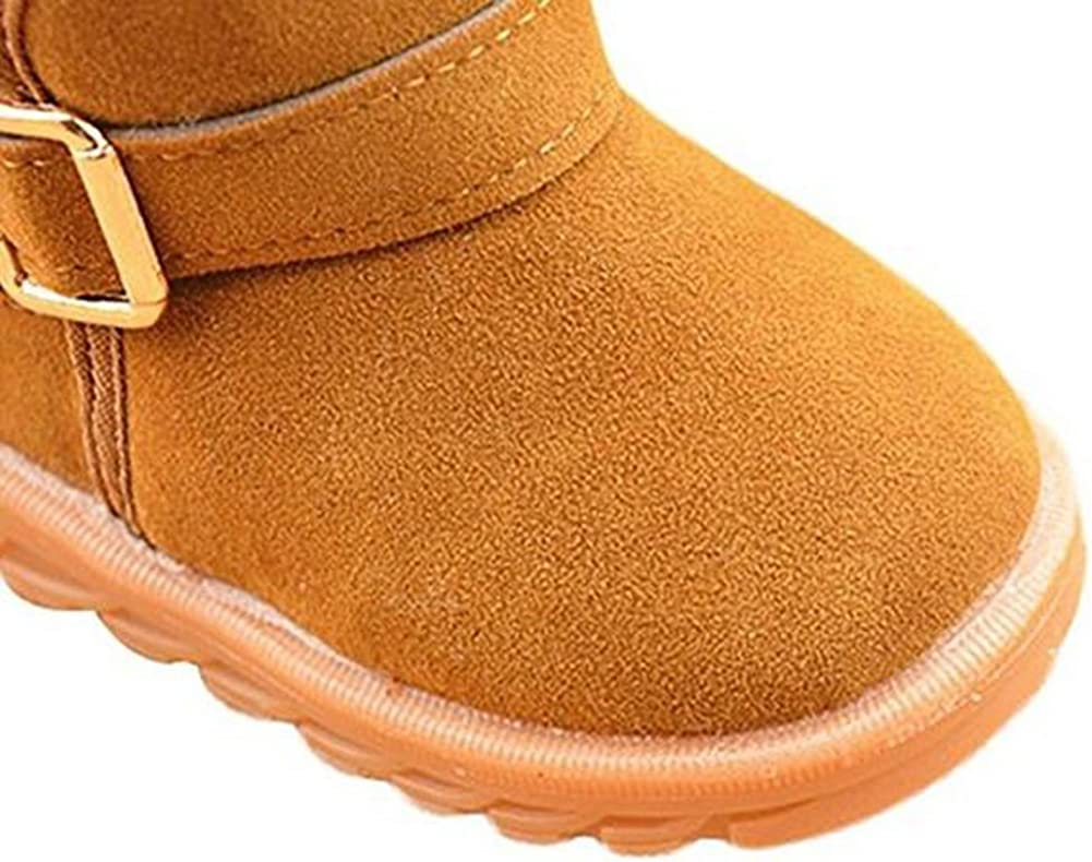 Tueenhuge Thick Warm Snow Boots Winter Shoes for Baby Toddler Boys Girls