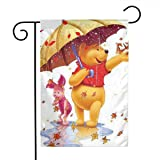 LYYTZ_id Winnie The Pooh and Piglet Garden Flag Home Outdoor/Indoor Yard Flag 12 X 18 Inch