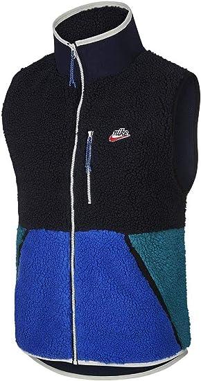 Nike Gilet de Sport pour Homme NoirBleu: