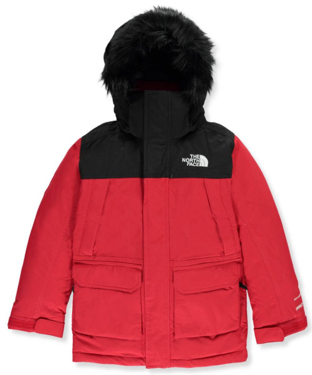 The North Face Big Boys' McMurdo Down Parka - metallic silver/amparo blue, l by The North Face