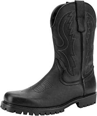 Square Toe Western Work Cowboy Boot