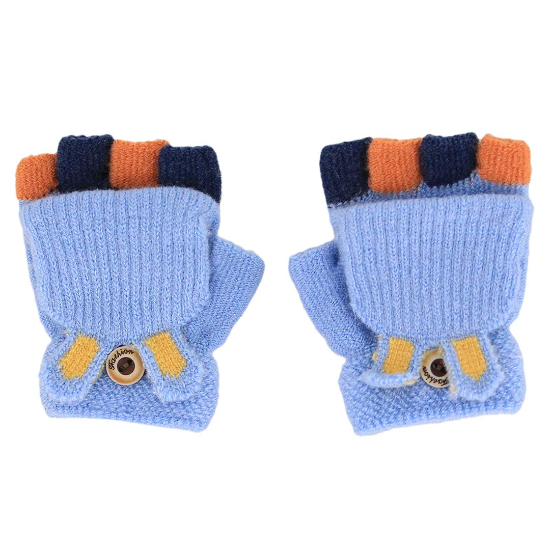 Tynora Cute Toddler Kids Boys Girls Winter Warm Knitted Cotton Stretchy Gloves Mittens