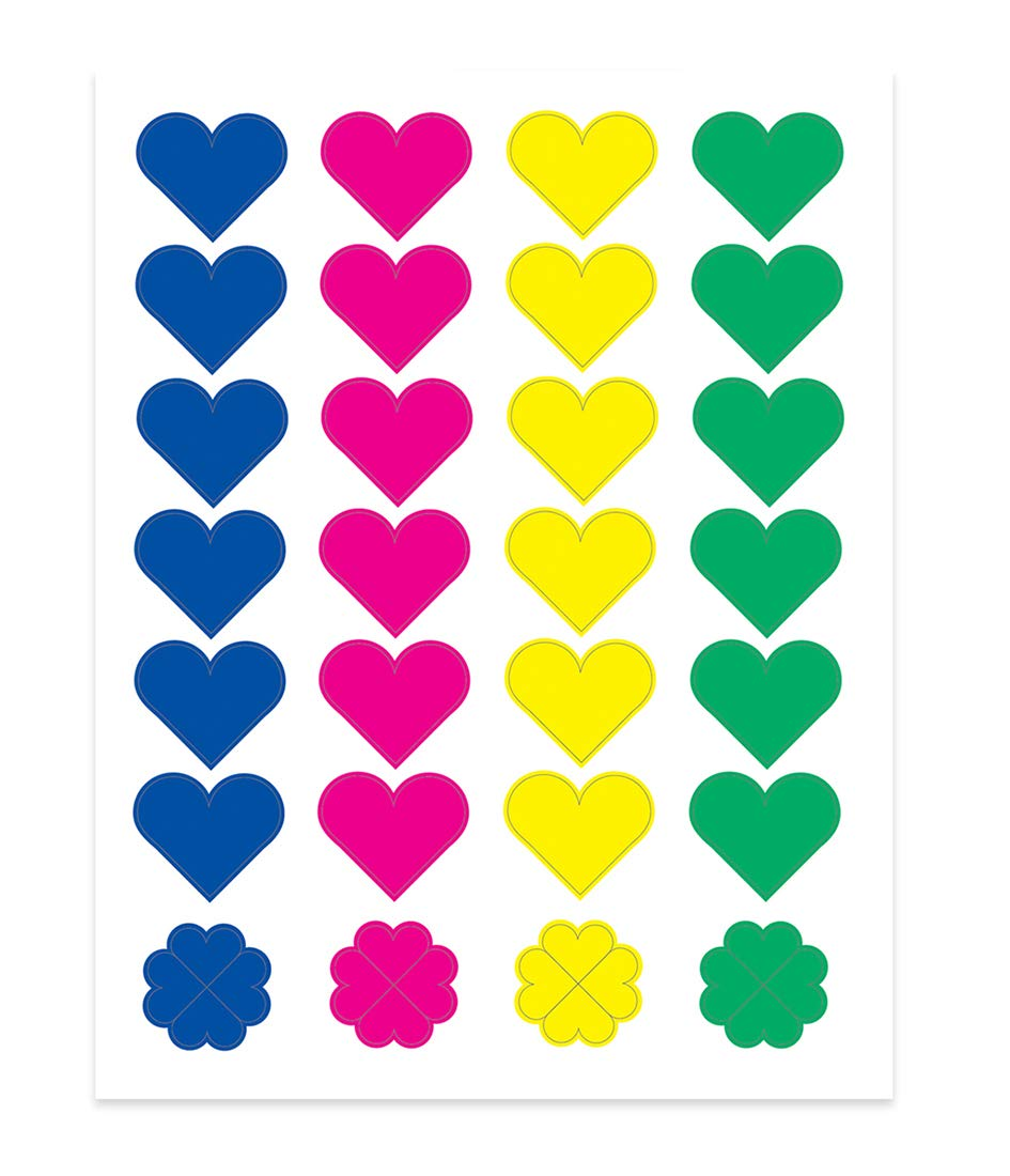 Hygloss Products Inc Red Foil Heart Shape Stickers 3 Sheets 1863
