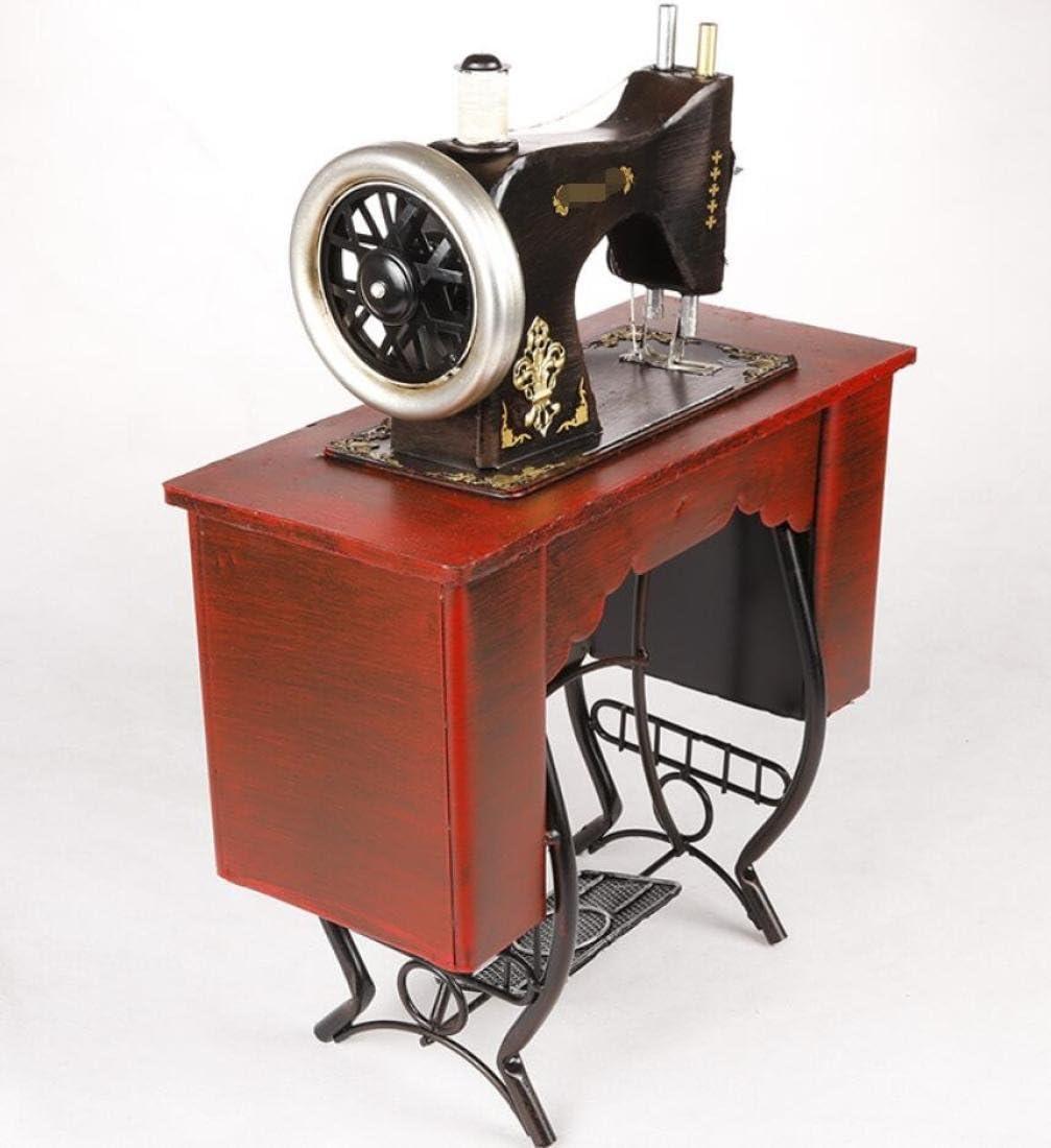 GL&G Retro nostalgia coser Pedal Vertical de hierro máquina modelo ropa tienda casa decoración Acentos colección recuerdos adornos mesa escenas,35*17*46cm: Amazon.es: Hogar