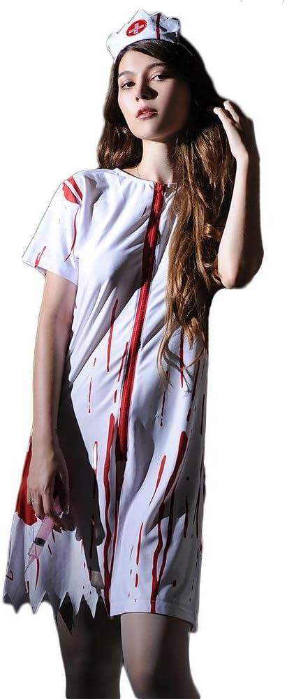SASA Disfraz de Halloween Enfermera de la Sangre Mujeres ...