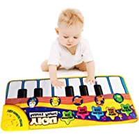 SGDD Piano Mat Musical Toys for Baby, Keyboard Piano Mat Music Dance Mat for Baby Toddler Toys for Little Boys Girls Birthday Xmas Presents Easter Gifts for 1-3 Years Old Girls Boys Yellow