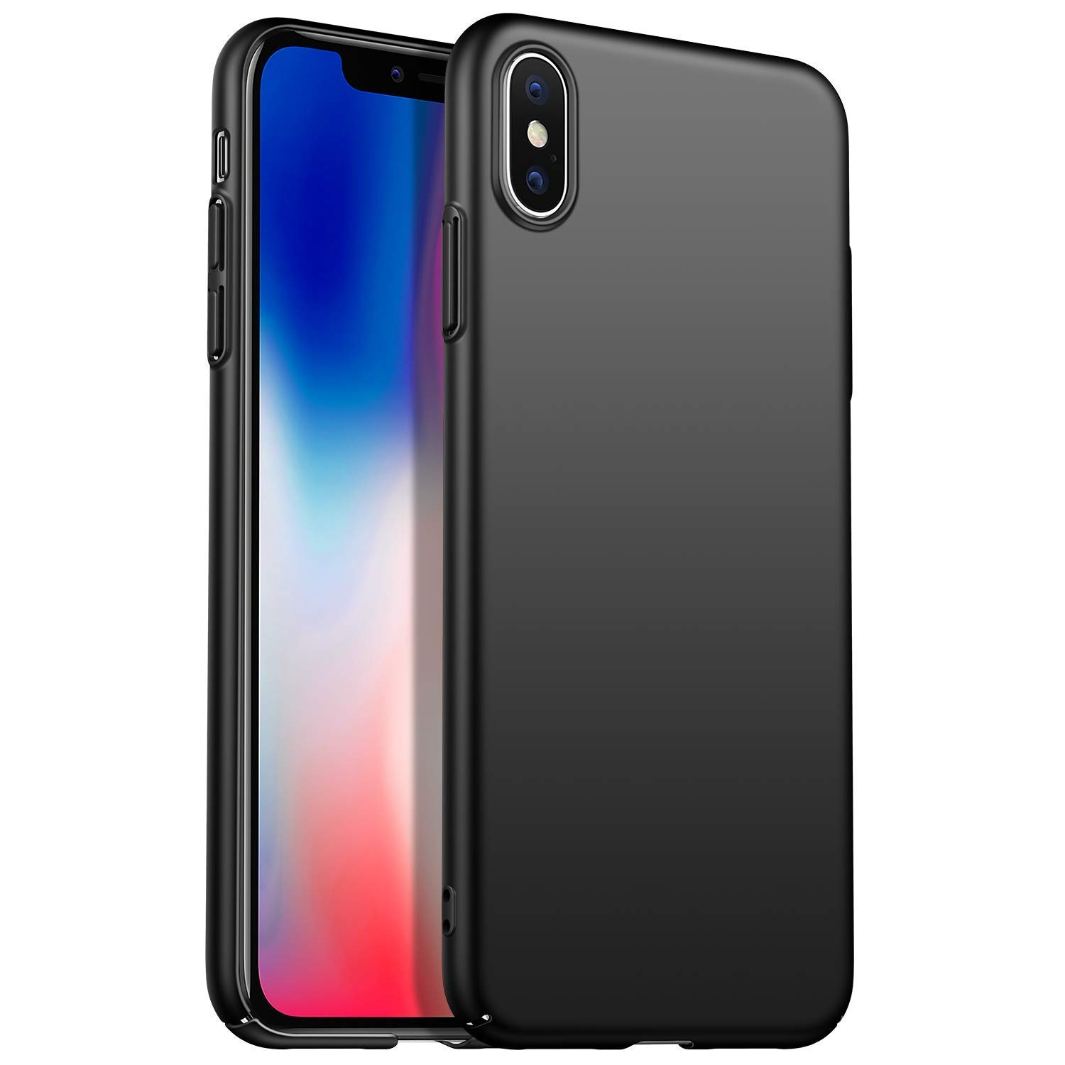 SAMHENG Slim Fit iPhone Xs Max Case, Hard Plastic Full Protective Anti-Scratch Resistant Cover Case Compatible with Apple iPhone Xs Max 6.5' (2018)