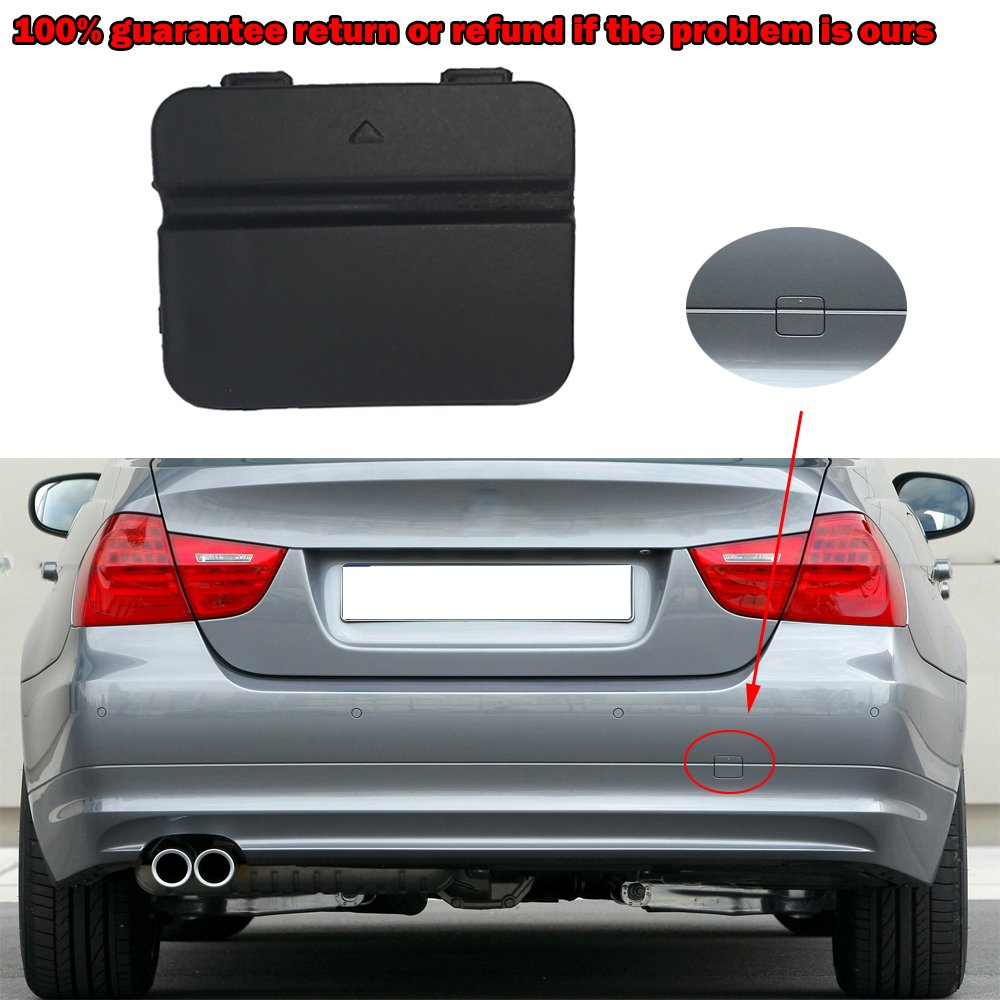 Free2choose Rear Bumper Tow Hook Cover Cap for E90 3-Series 2009 2010 2011 51127202673