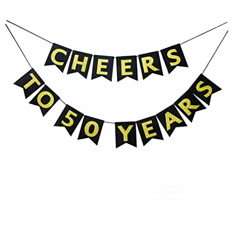 Losuya Cheers To 50 Anni Bandiera Bunting Per Buon 50 Compleanno