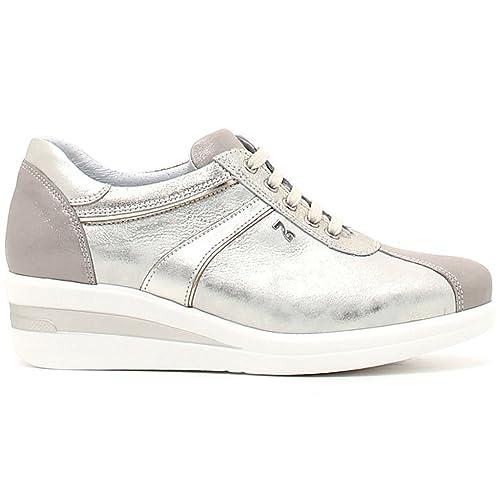 Nero Giardini donna sneakers beige P805065D scarpe primavera estate 2018