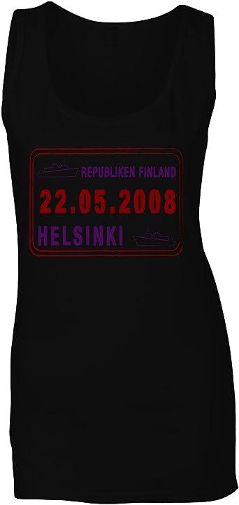 Nuevo Helsinki Finlandia Post Stamp Camiseta sin Mangas Mujer i288ft: Amazon.es: Ropa y accesorios