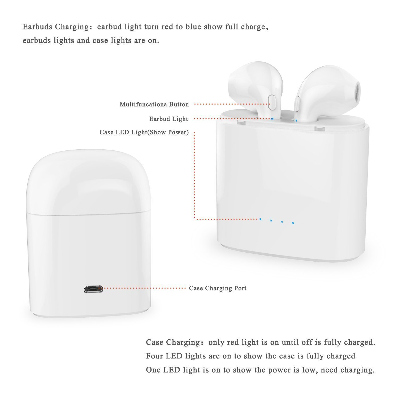 I7stws G Case Mini I7s Tws Twins True Bluetooth V42 Headset Sports Hbq I7 Wireless Iphone 7 Plus Oem Electronics