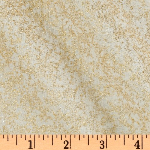 Michael Miller Fairy Frost Glitz Twinkle Fabric By The Yard - Michael Miller Cream