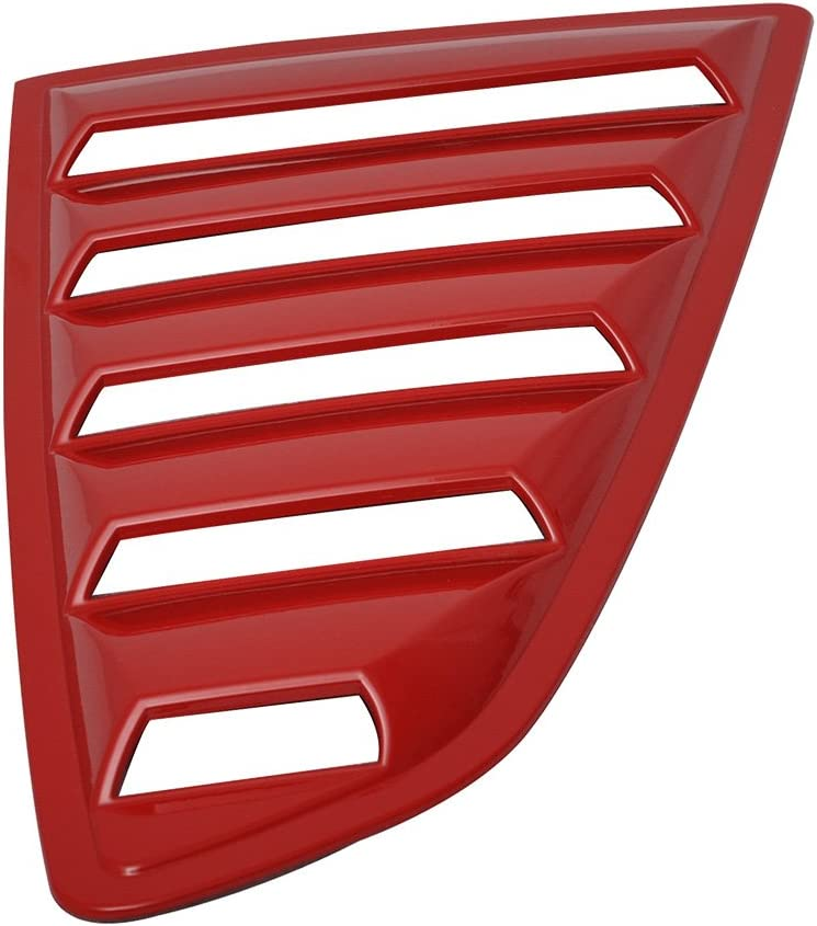 Pre-Painted Window Louver Compatible With 2015-2020 Ford Mustang PQ Race Red Rear Window Scoop Cover Sun Shade Other Color Available by IKON MOTORSPORTS