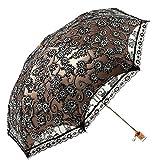Nimble House  Zero Transmittance Super Prevent Sun Compact Lace Wedding Parasol Folding UV Block Ladies Umbrella