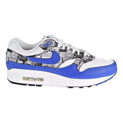 Nike Mens Air Max 1 Print WhiteGame Royal Grey Leather Size 4