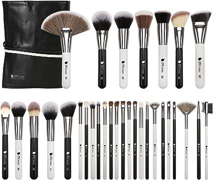 DUcare Brochas de Maquillaje Profesional Con Bolsa de Cosméticos 31 piezas Premium Synthetic Set de Pinceles de maquillaje para Artista de Maquillaje(Estilo panda): Amazon.es: Belleza