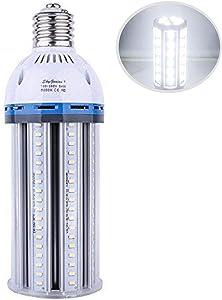 54W LED Corn Light Bulb (E39 Large Mogul Base) 5500Lm 5000K Daylight, for Metal Halide HID HPS Replacement Garage Parking Lot High Bay Warehouse Street Lamp Lighting