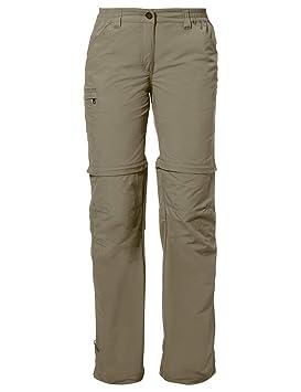 Vaude - Hose Women s Farley Zo Pants Iv - Pantalon - Femme - Beige (Muddy 101ef4996882