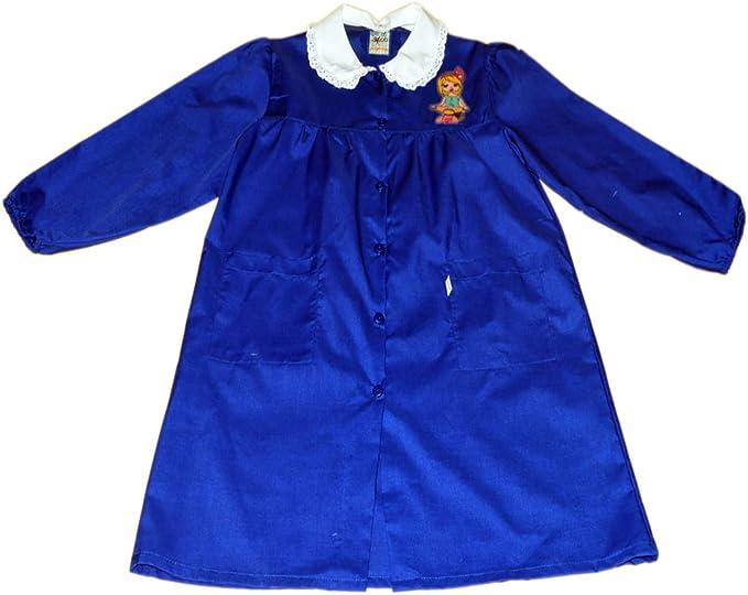 Tutti a Scuola - Bata de Colegio 28-430 para niña, Color Liso, Escuela Primaria, con Bordados ES 152cm: Amazon.es: Ropa y accesorios