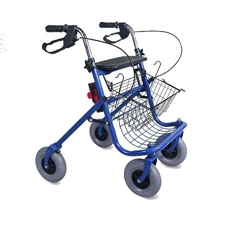 YAN-Walker Andador para Ancianos De 4 Ruedas | Aluminio Ultraligero | Plegable | con
