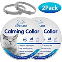 EXPAWLORER 2 Pcs Calming Collar for Cats - Relieve Reduce Anxiety Your Pets, Adjustable Natural Pheromones Formula, Long Lasting Up to 60 Days, Waterproof Calm Collar for Small Dogs and Cats- 15 inch