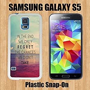 Beach Quote Custom made Case/Cover/skin FOR Samsung Galaxy S5 -White- Plastic Snap On Case ( Ship From CA) by runtopwell