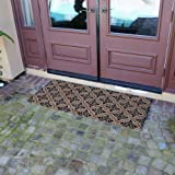 "Rubber-Cal ""Classic Fleur de Lis French Matting"" - 2 Sizes - Home Door Mats"