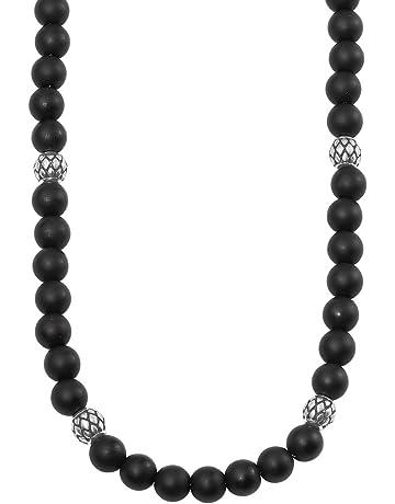 Oliver Herren-Halskette Edelstahl Onyx schwarz matt längenverstellbar 47+3cm 28841a587b12b