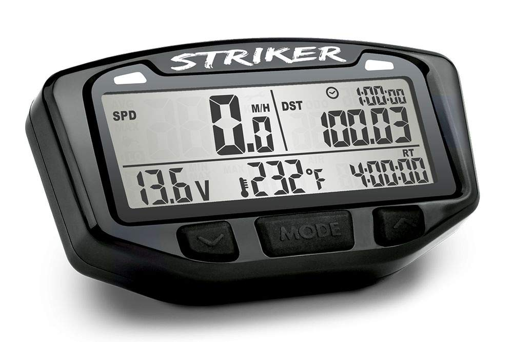Trail Tech 712-110 Black Striker Speedometer Digital Gauge Kit with Volt Meter by Trail Tech