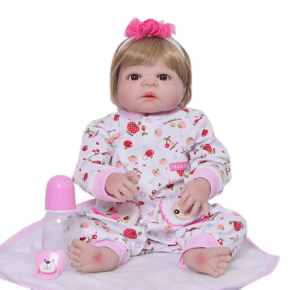 Envío rápido y el mejor servicio azul Eyes Unexceptionable-Dolls Muñecos bebé,23 Pulgadas de Cuerpo Cuerpo Cuerpo Completo de Silicona Realista de Moda bebé renacido muñeca bebé CosJugar Panda Infantil, Ojos Azules  con 60% de descuento
