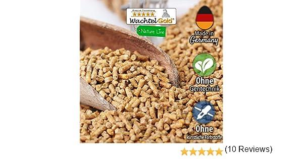 WachtelGold® alimentación de codornices ♥ │ 25kg, poner el grano naturaleza 2mm │ ✓ sin OGM │ Ideal para codornices │ Rico en linaza, semilla de chia y levadura de cerveza: Amazon.es: Productos para mascotas